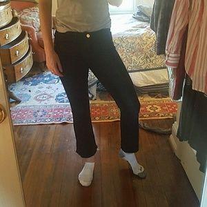 Black frame jeans